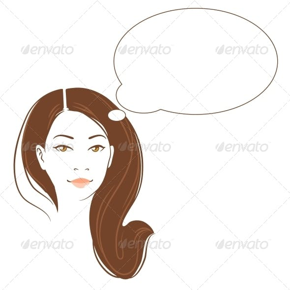 Vector Portrait of Asian Woman