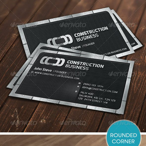 Construction Metalic Business Card