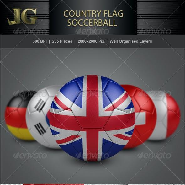 Country Flag Soccerball Ball Mega Pack
