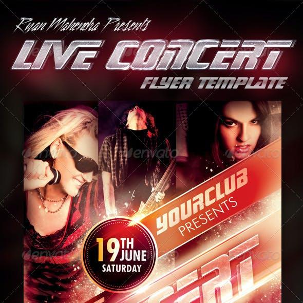 Live Concert Flyer Template