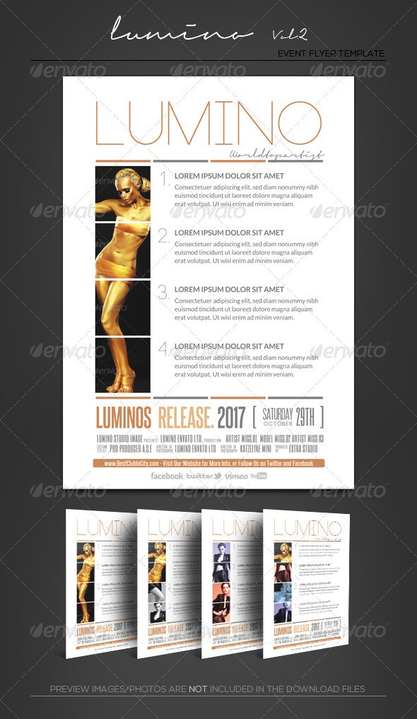 Lumino II - Product Fact Sheet - FlyerTemplate - Corporate Flyers