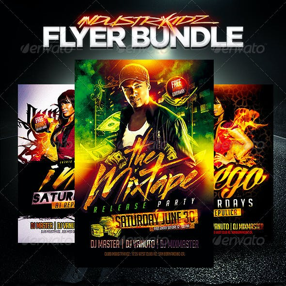 Hip Hop Flyer Bundle