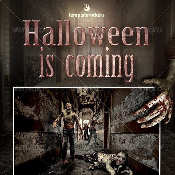 Halloween Is Coming Closer Flyer