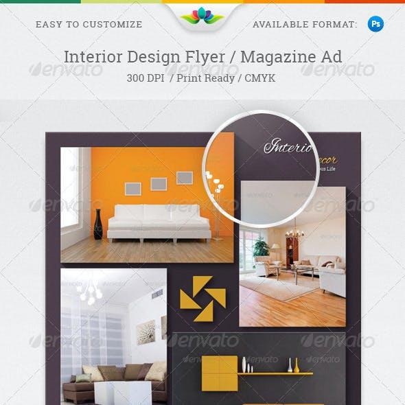 Interior Design Flyer / Magazine Ad