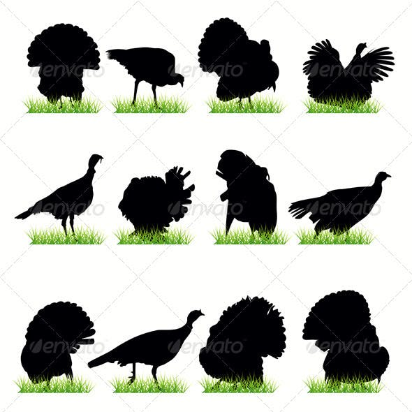 Turkey Silhouettes Set
