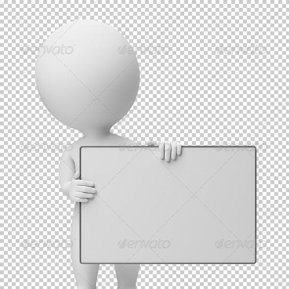 3d small people - empty board
