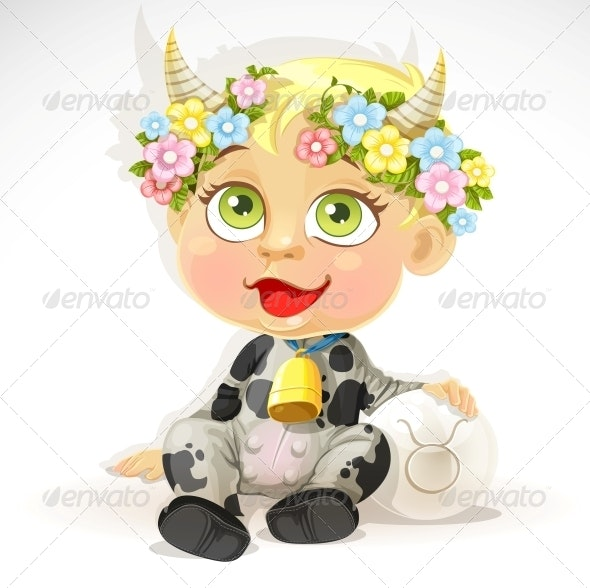 Baby Zodiac Taurus Sign - People Characters