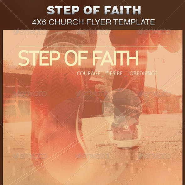 Step of Faith Church Flyer Template