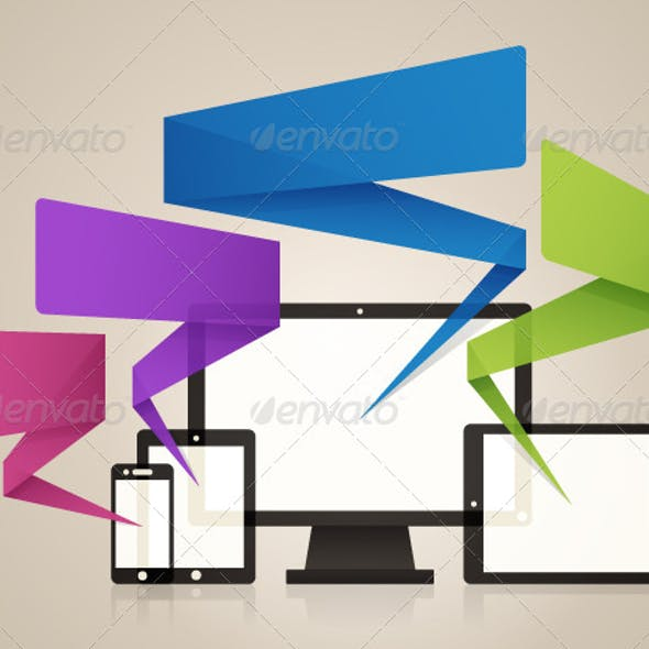 Technology Screens Background Vector