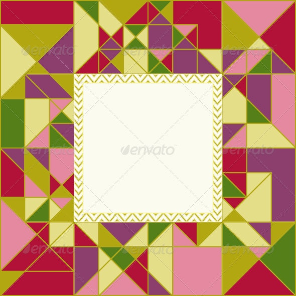 Colorful Geometric Pattern Card Design - Backgrounds Decorative