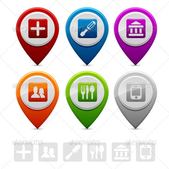 Location Marker Symbols