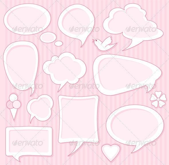 Cute speech bubbles - Decorative Vectors