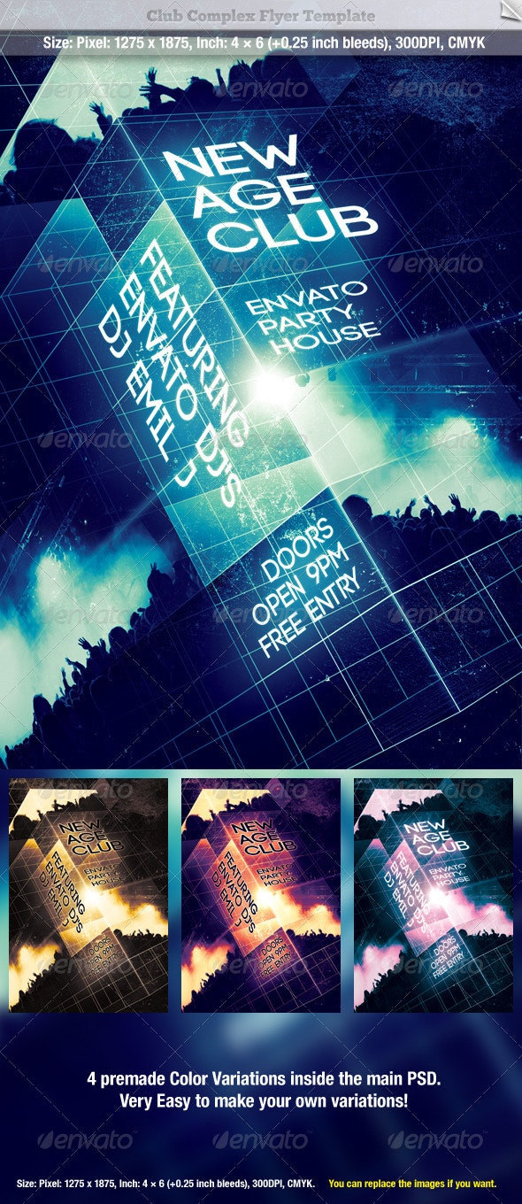 Club Complex Flyer Template - Clubs & Parties Events
