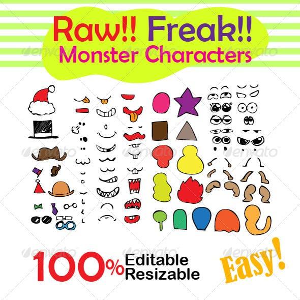 Raw Freak Monster Characters