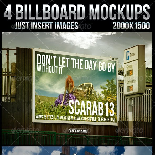 4 Billboard Mockups