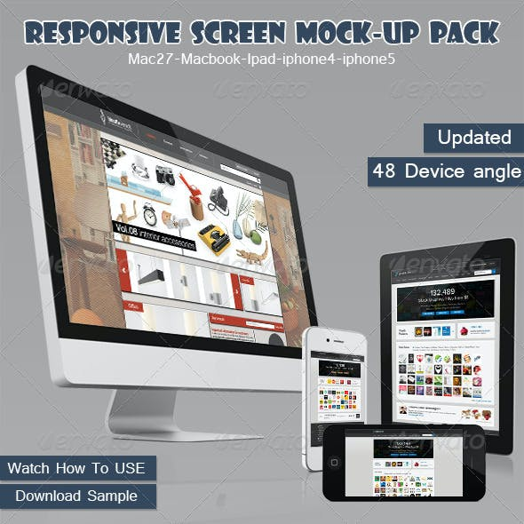 Responsive Screen Mock-up Pack
