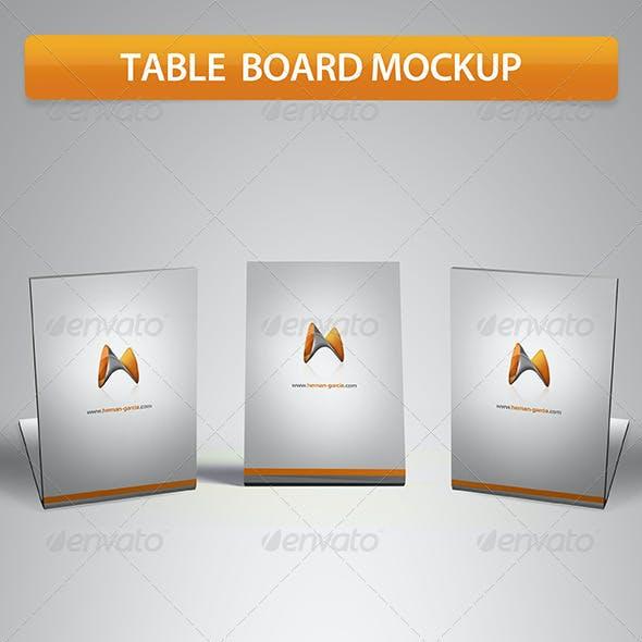 Table Board Mockup