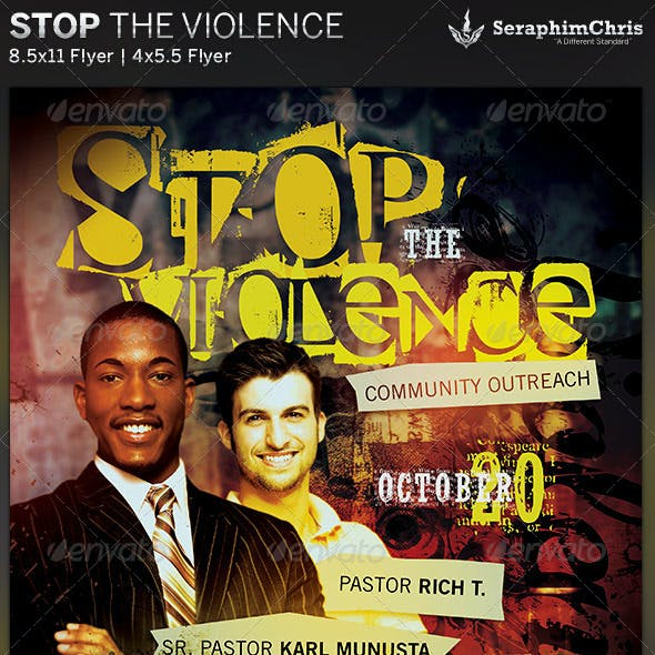 Stop the Violence: Church Flyer Template