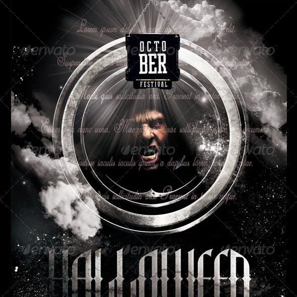 "October Fest ""Halloween"" Flyer Template"