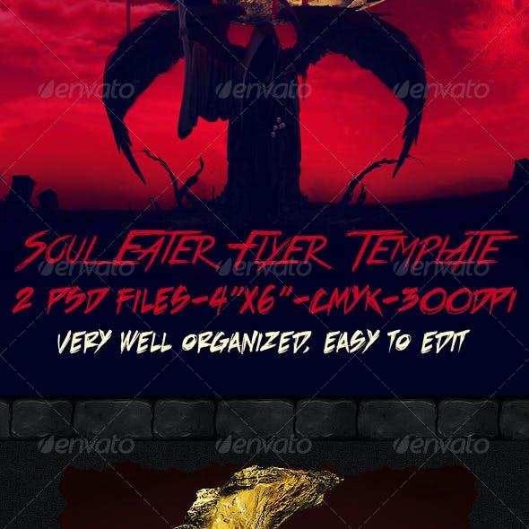 Soul Eater Flyer Template
