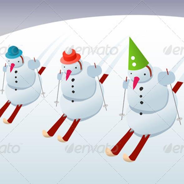 Snowmen on Skis