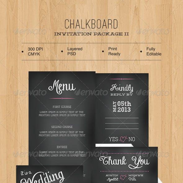 Chalkboard Invitation Package II
