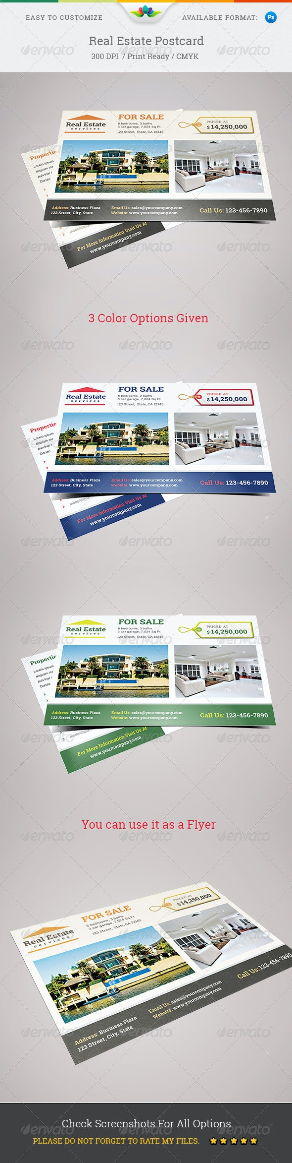 Real Estate Postcard  - Stationery Print Templates