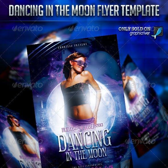 Dancing In The Moon Flyer Template