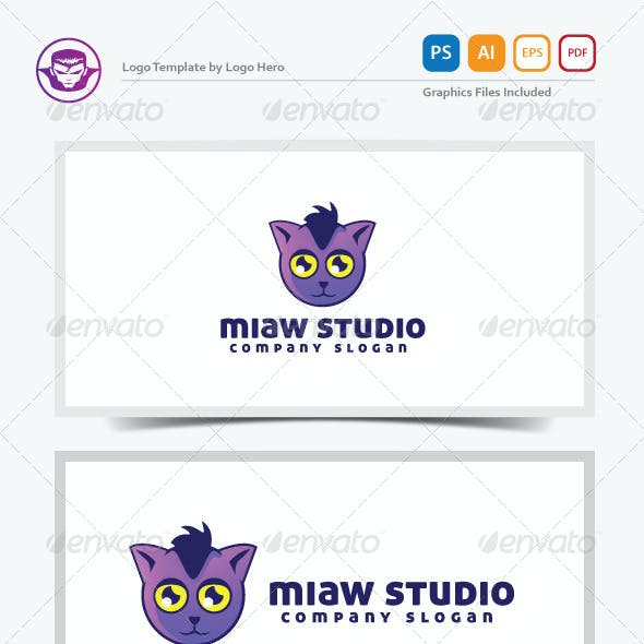 Miaw Studio Logo Template