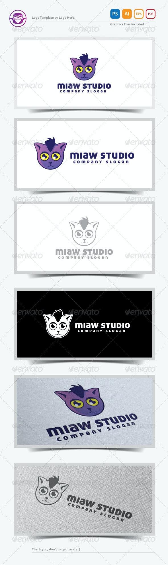 Miaw Studio Logo Template - Animals Logo Templates