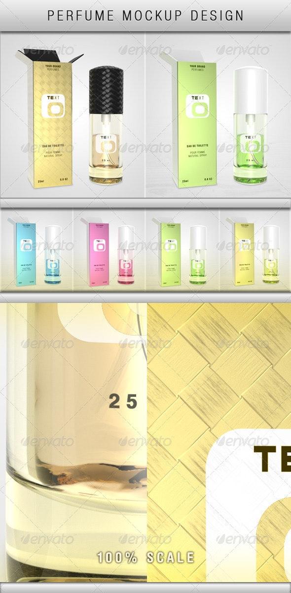 Perfume Mockup - Product Mock-Ups Graphics
