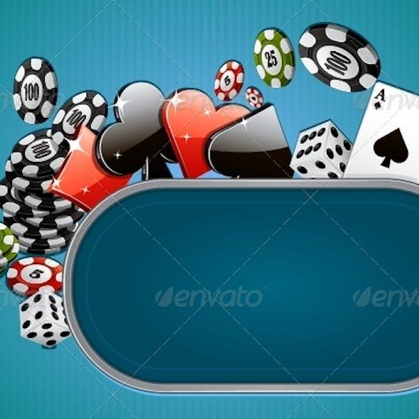 Blue Casino Background