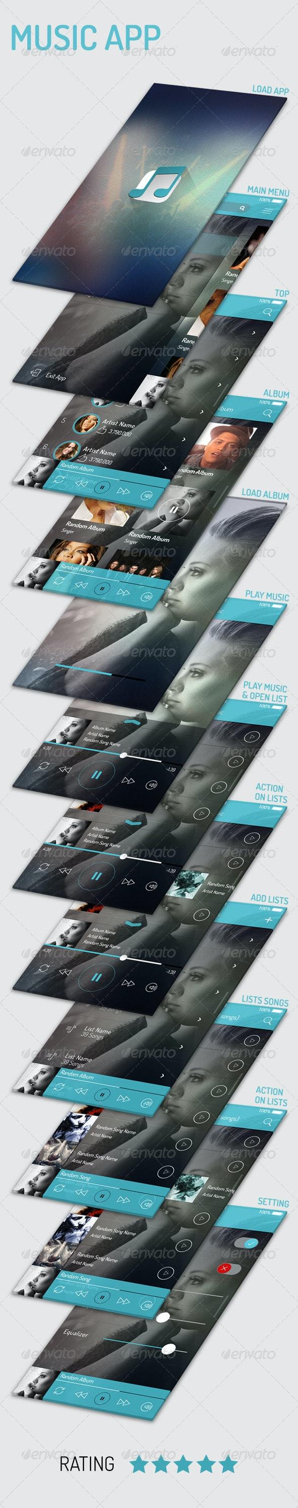 Music App - User Interfaces Web Elements