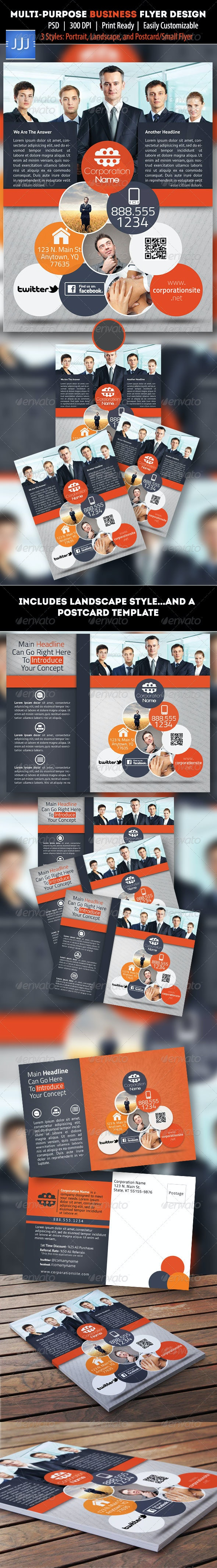 Multipurpose Business Flyer 10 with Postcard - Corporate Flyers