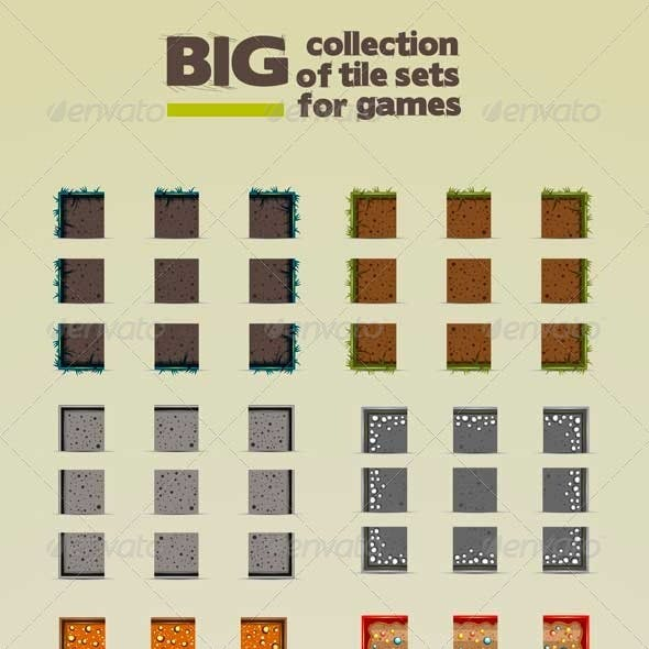 Big Collection of Tile Sets for Games