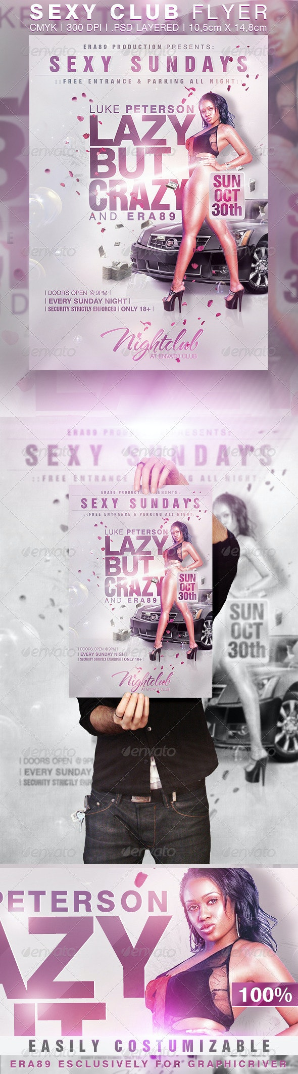 Sexy Sundays Nightclub Party Flyer - Clubs & Parties Events