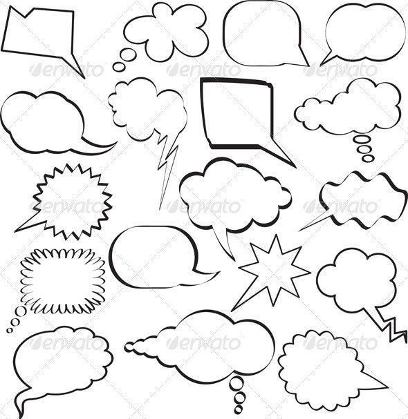 Cartoon Speech Bubbles - Miscellaneous Vectors