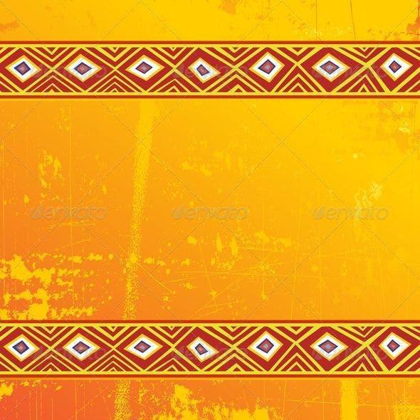 Ethnic Africa Art Grunge Ornamental Pattern
