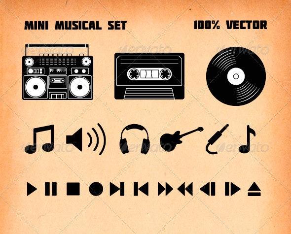 Mini musical set - Vectors