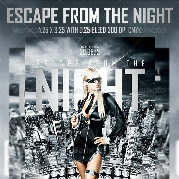 Escape From The Night Flyer Template