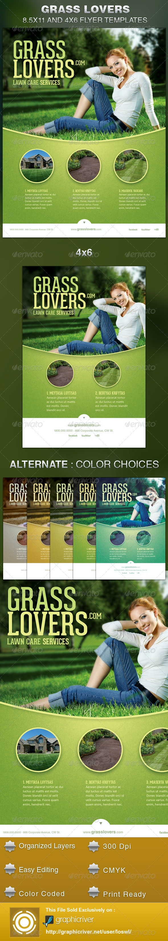 Grass Lovers Corporate Flyer Template - Corporate Flyers