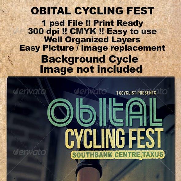 Obital Cycling Fest Flyer