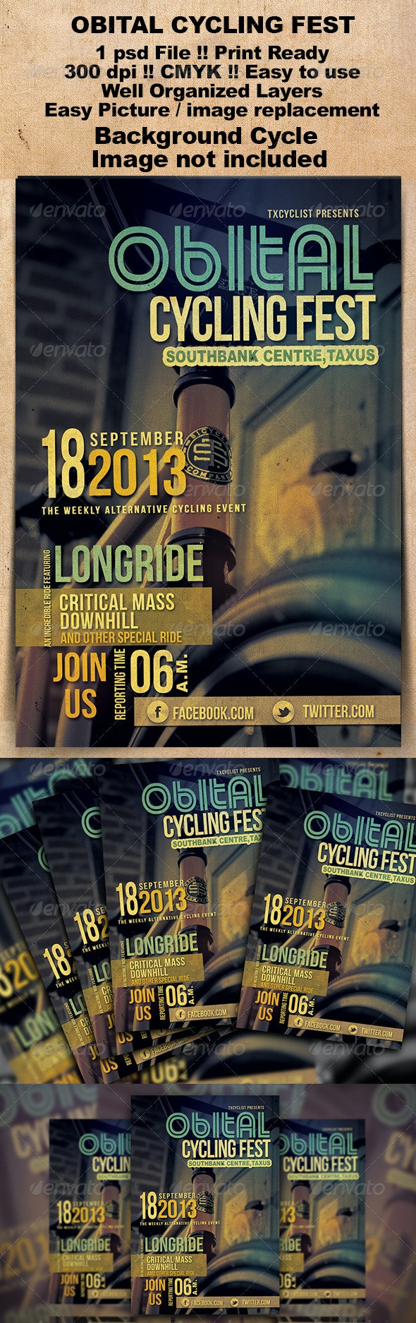 Obital Cycling Fest Flyer - Events Flyers