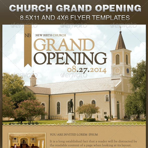 Church Grand Opening Flyer Template