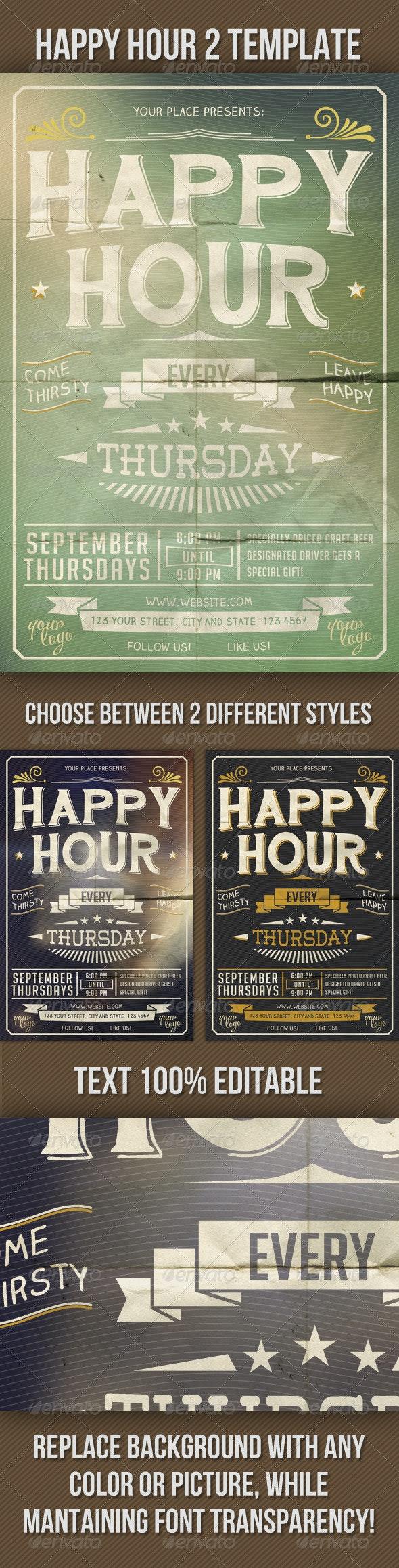 Happy Hour Indie Flyer Vol. 2 - Clubs & Parties Events