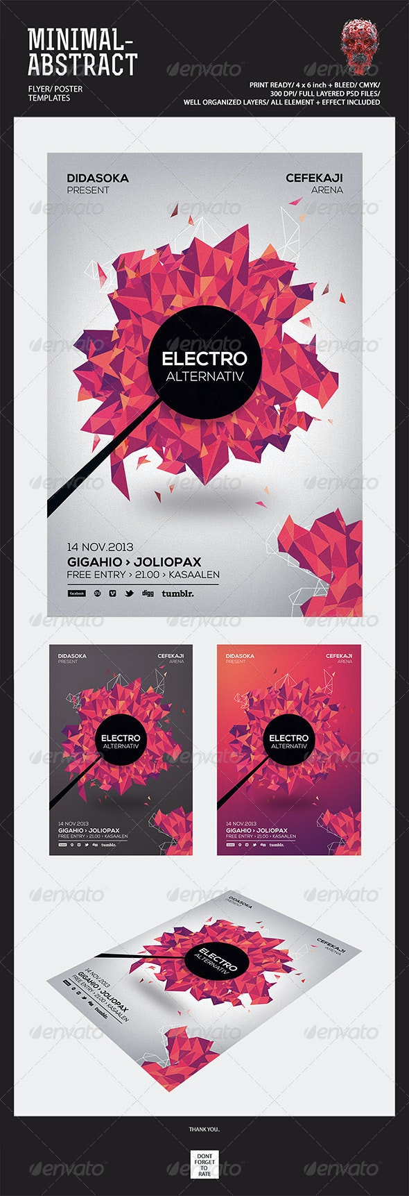 Minimal Abstract Flyer Templates - Events Flyers