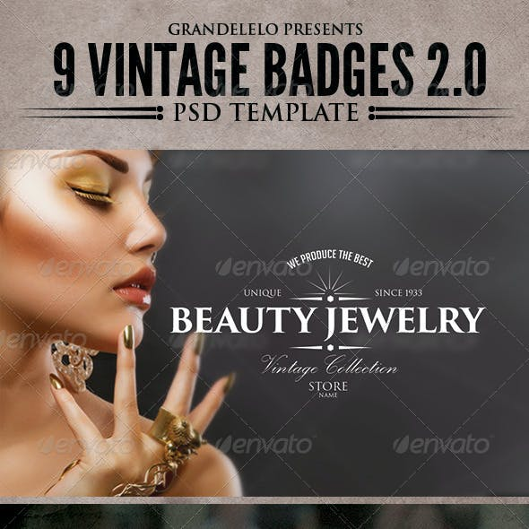 Vintage Badges Template 2.0