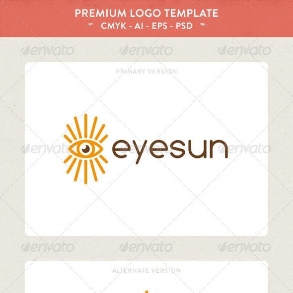 Eye Sun Logo Template