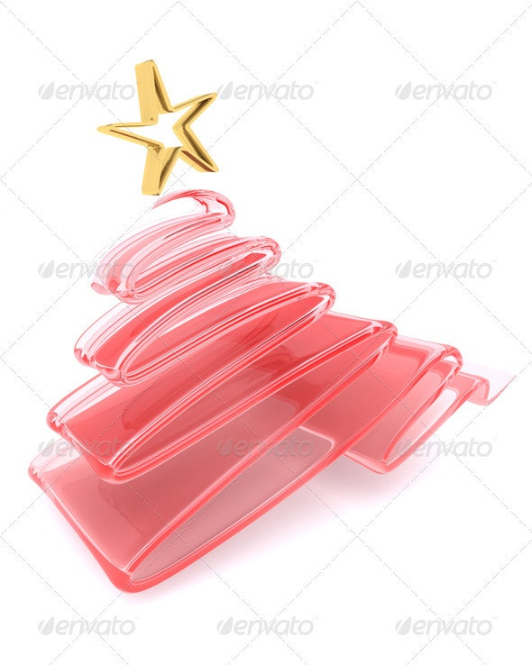 Glass Scribble Christmas Tree - 3D Backgrounds