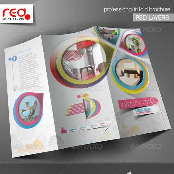 Architecture & Interior Decorator Trifold Brochure